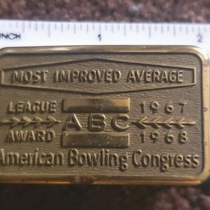 Vintage ABC AMERICAN BOWLING league award buckle
